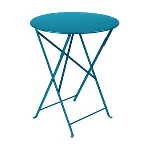 Modrý zahradní stolek Fermob Bistro, Ø 60 cm