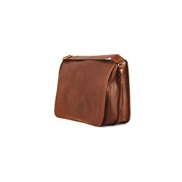 Kožená taška Santo Croce 8809 Brown