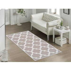 Odolný bavlněný koberec Vitaus Madalyon Bej, 60x90cm