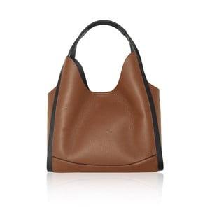 Hnědá kožená kabelka Maison Bag Giade