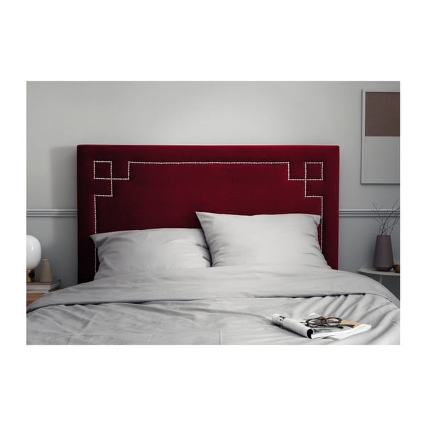 Červené čelo postele THE CLASSIC LIVING Nicolas, 200 x 120 cm