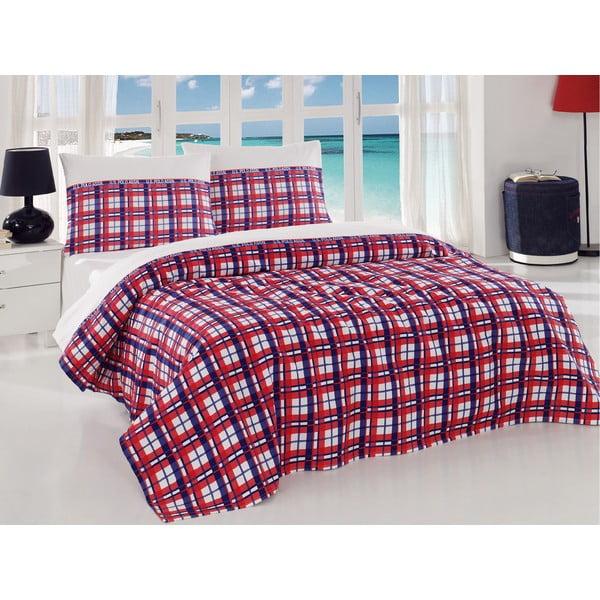 Set přehozu přes postel a prostěradla U.S. Polo Assn. Visalia,160x220cm