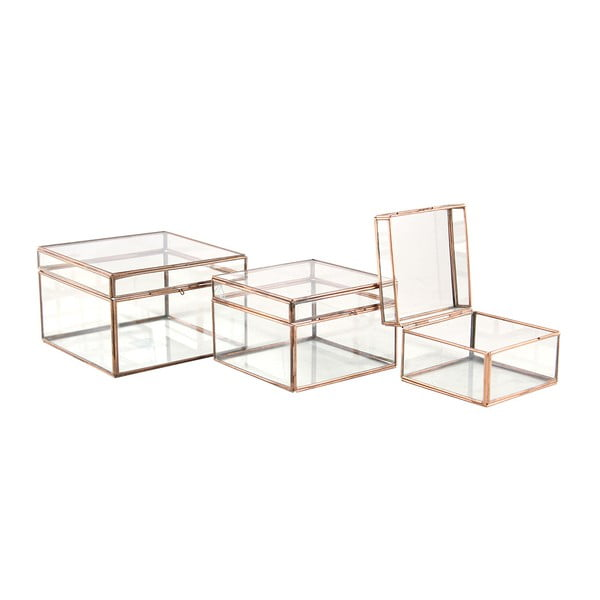 Set 3 boxů Copper Small