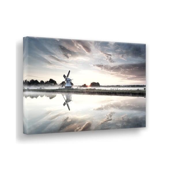 Tablou imprimat pe pânză Styler Windmill, 100 x 75 cm