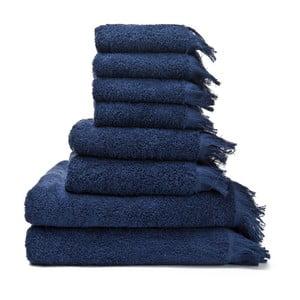 Set 8 prosoape din bumbac Casa Di Bassi Bath, albastru