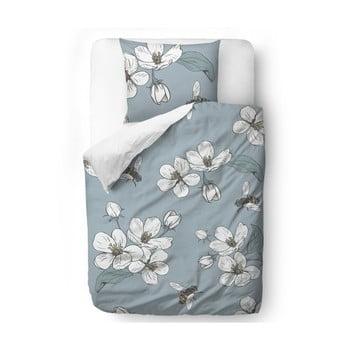 Lenjerie de pat din bumbac satinat Butter Kings Cherry Blossom, 200 x 200 cm poza