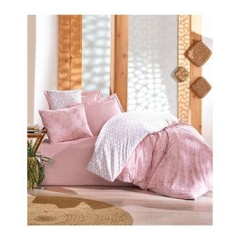 Lenjerie de pat din bumbac cu cearşaf Monroy, 200 x 220 cm de la Cotton Box
