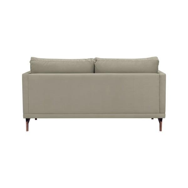 Béžová dvojmístná pohovka s podnožím ve zlaté barvě Windsor & Co Sofas Jupiter