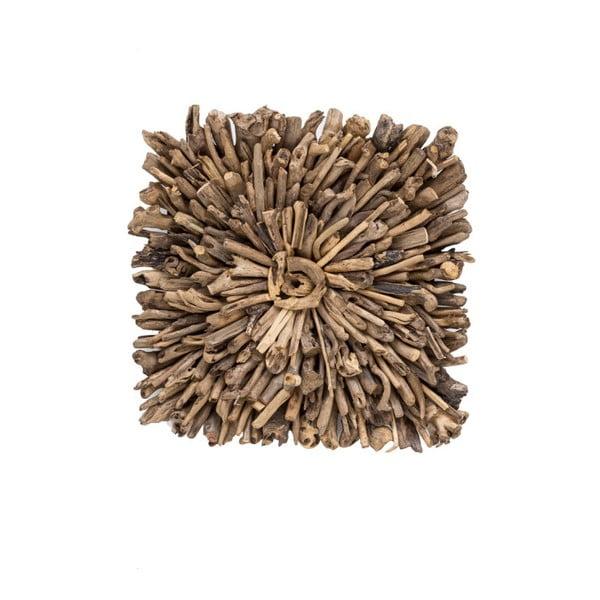 Nástenná dekorácia z recyklovaného dreva WOOX LIVING Drift, 70 × 70 cm