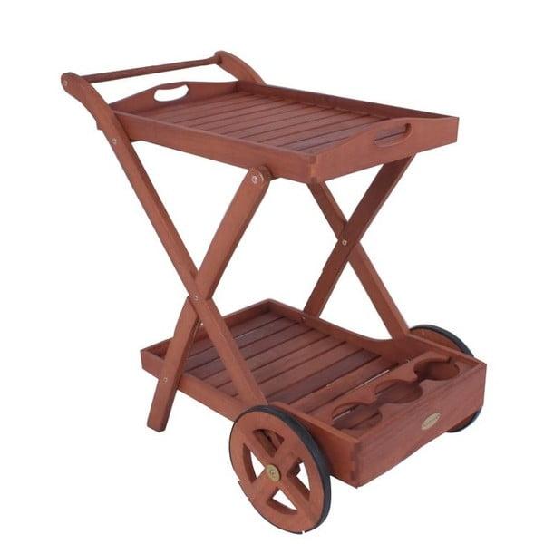Záhradný servírovací vozík z eukalyptového dreva ADDU Toledo