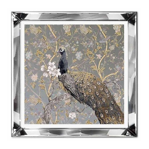 Nástěnný obraz JohnsonStyle The Golden Peacock, 51 x 51 cm