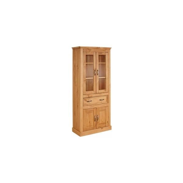 Vitrină cu 4 uși din lemn de pin Støraa Suzie, maro