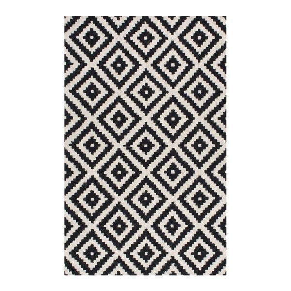 Vlněný koberec Gigos Black, 160x228 cm