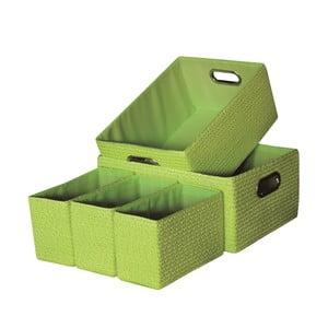 Sada 5 úložných krabic Laroom Green
