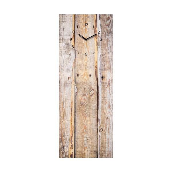 Magnetická tabule s hodinami Eurographics Timber, 30x80cm