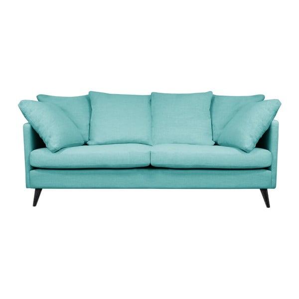Modrá trojmístná pohovka Helga Interiors Victoria Pasello