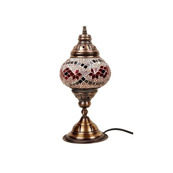 Stolní skleněná lampa Homemania Syrakusy, ⌀13cm