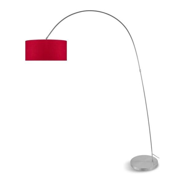 Šedá volně stojící lampa s červeným stínidlem Citylights Bolivia