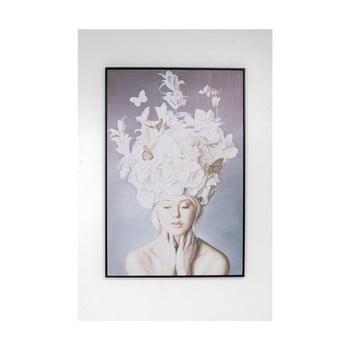 Tablou în ramă Kare Design Lady White Flowers, 80x120cm