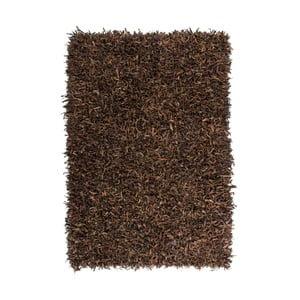 Hnědý kožený koberec Rodeo, 80x150cm