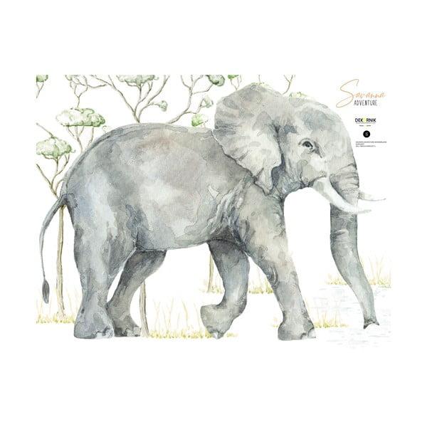 Nástěnná samolepka slona Dekornik, 125 x 92 cm