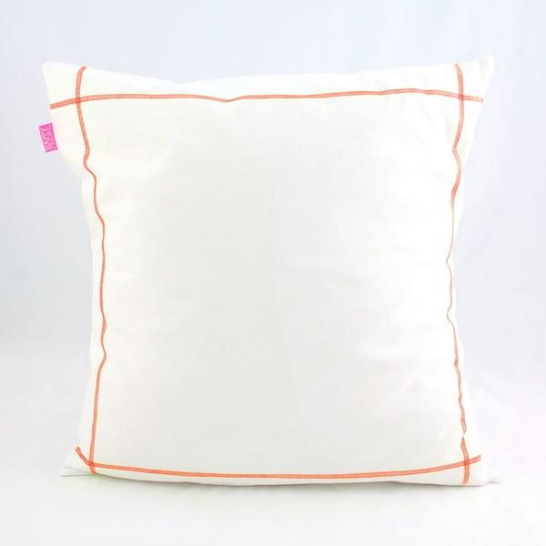 Povlak na polštář Basic Fluor orange, 50 x 50 cm