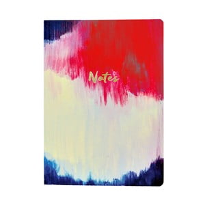 Agendă A5 Portico Designs Watercolour Abstract Flexi, 160 file
