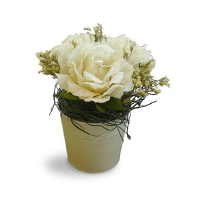 Květináč s umělými květinami Bouquet, 21 cm