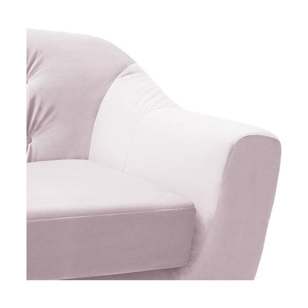 Canapea 3 locuri Vivonita Laurel, mov deschis