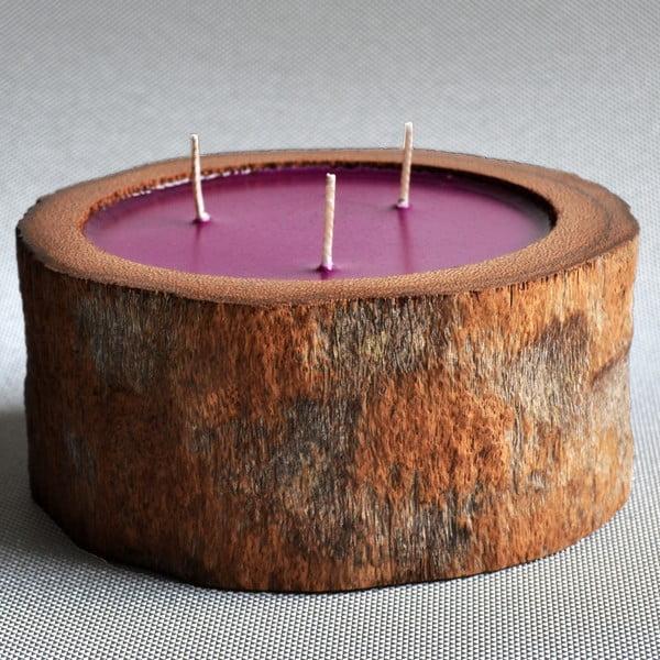 Palmová svíčka Legno s vůní white musk, 60 hodin hoření