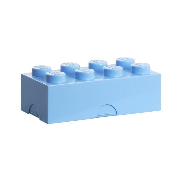 Světle modrý svačinový box LEGO®