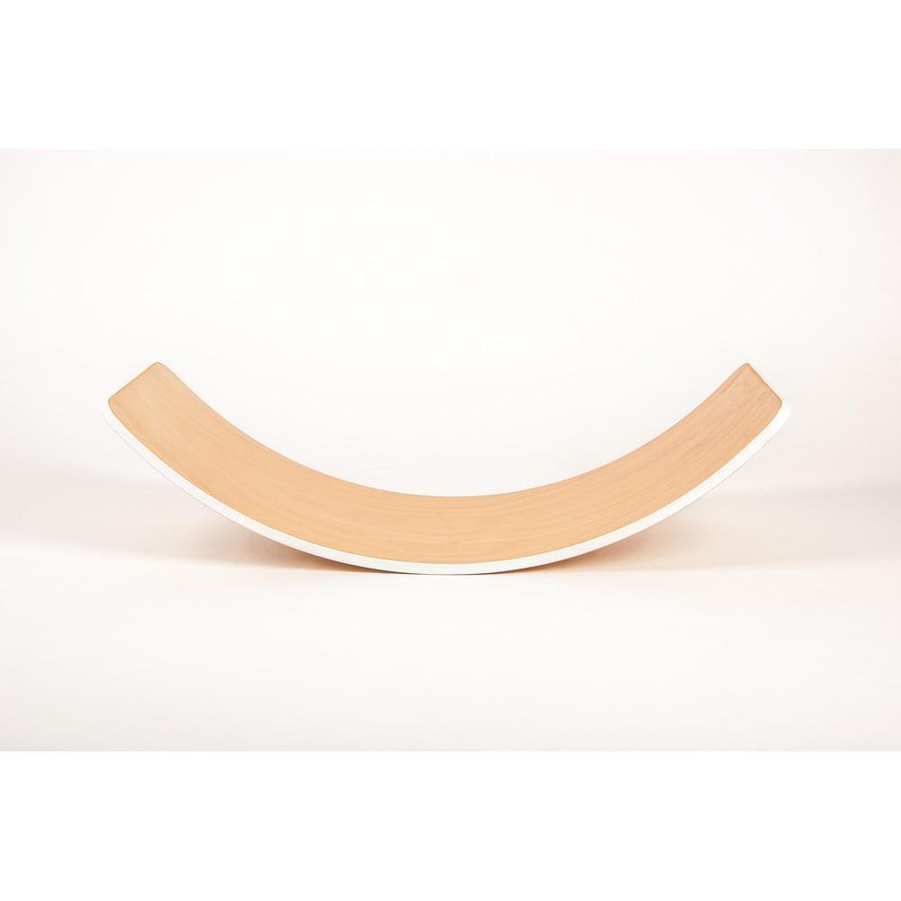 Bukové houpací prkno s bílou hranou Utukutu, délka82cm