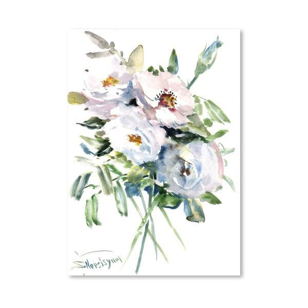 Plakát White Roses od Suren Nersisyan