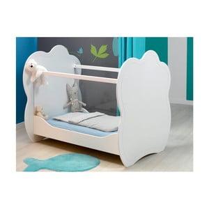 Bílá dětská postýlka BEBE Provence Altea, 60x120cm