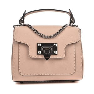 Béžovorůžová kožená kabelka Isabella Rhea Rasna