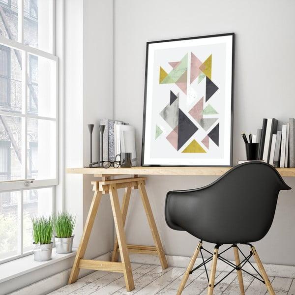 Plakát v dřevěném rámu Ostrya, 38x28 cm