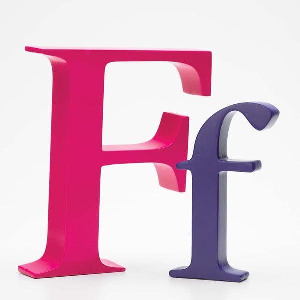 """Velké """"F"""" 17x14 cm, růžová"""