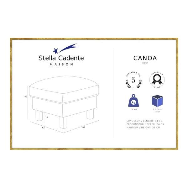 Černá podnožka Stella Cadente Maison Maison Canoa