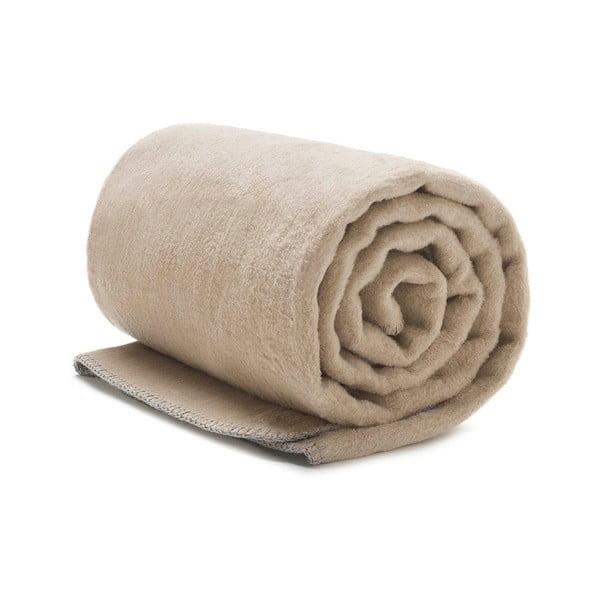 Pătură din bumbac Mumla, 150 x 200 cm, bej