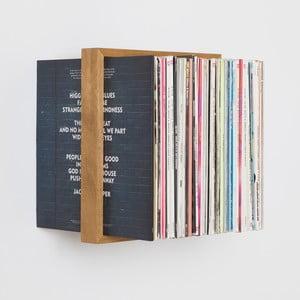 Police na vinylové desky z dubového dřeva das kleine b Platte, výška35cm