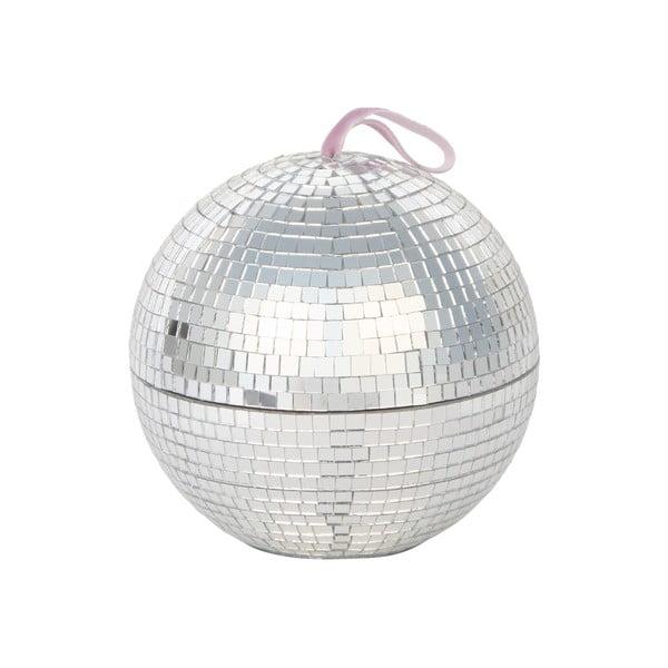 Krabička na šperky ve stříbrné barvě DOIY Disco, ø 12,8 cm