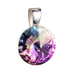 Fialový přívěsek ze stříbra se Swarovski krystalem Je Veux Herno