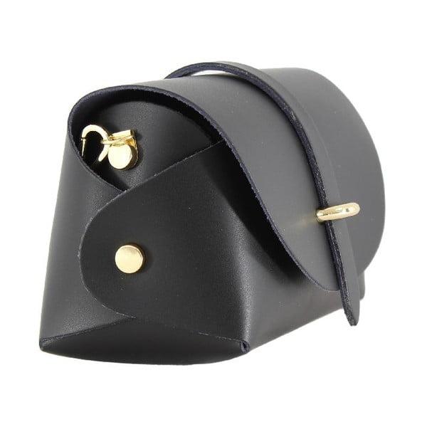 Kožená kabelka přes rameno Slaygie, černá