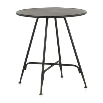 Masă de bar din metal Geese Industrial Style, înălțime 75 cm, negru imagine