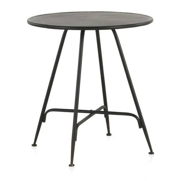 Czarny metalowy stolik Geese Industrial Style, wys. 75 cm
