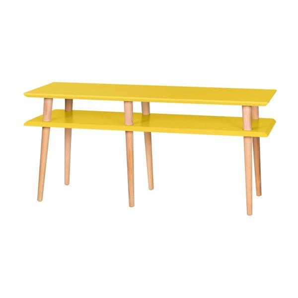 Mungo sárga dohányzóasztal, hossza 119 cm - Ragaba