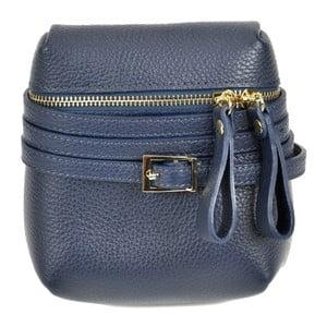 Tmavě modrá kožená kabelka Renata Corsi Daluda