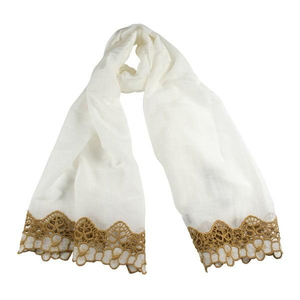 Šátek s příměsí hedvábí Shirin Sehan Florentine Choco