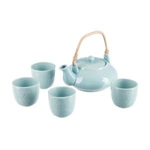 Set ceainic și 4 căni J-Line Azu