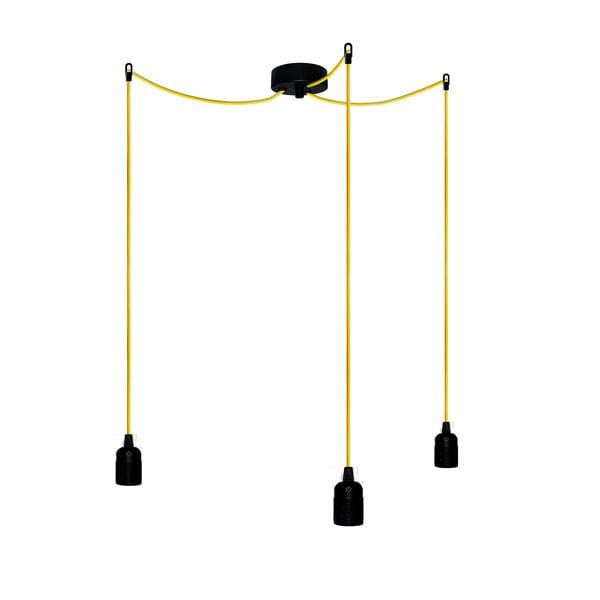 Tři závěsné kabely Uno, žlutá/černá